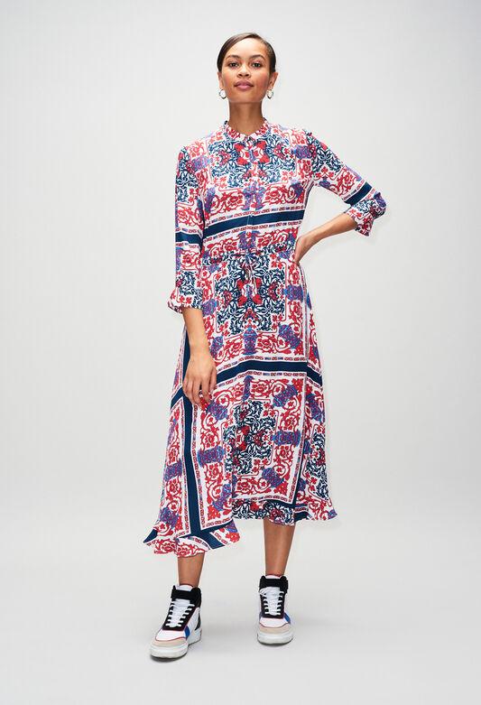 끌로디 피에로 원피스 Claudie Pierlot ROMEAH19 - Robe Longue Imprimee Foulard,PRINT