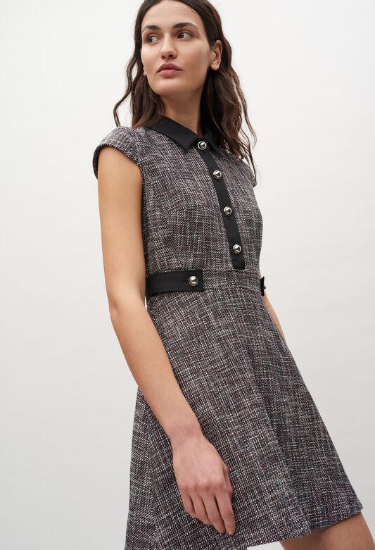 끌로디피에로 원피스 Claudie Pierlot Robe courte A col chemise,MULTICO