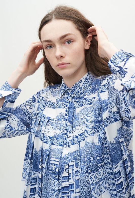 끌로디피에로 원피스 Claudie Pierlot Robe chemise A motifs,PRINT CLAIR