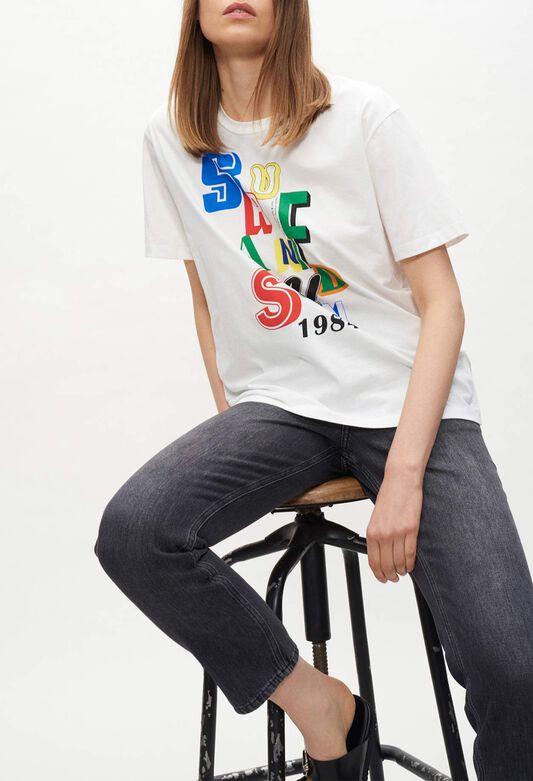 끌로디피에로 티셔츠 Claudie Pierlot T-shirt Surf and Sun,ECRU