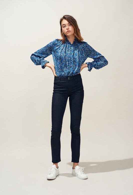 끌로디피에로 Claudie Pierlot PREVIEW - Jean skinny ceinture A motifs,MARINE