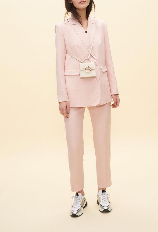 끌로디피에로 자켓 Claudie Pierlot Veste de tailleur rose,POUDRE