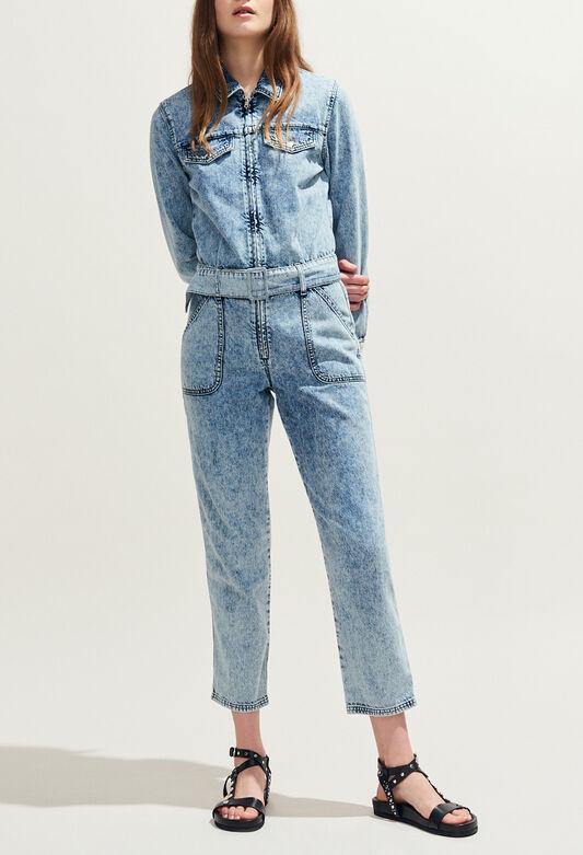 끌로디피에로 Claudie Pierlot JACINTHY - Combinaison en jean tie&dye,JEAN