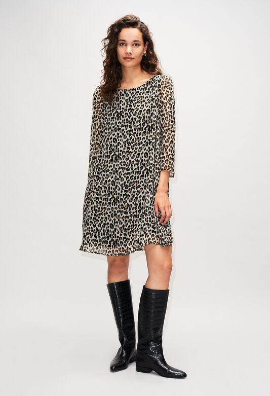끌로디피에로 원피스 Claudie Pierlot RIFIFILEOPARDH19 - Robe Rififi Imprimee Leopard,PRINT