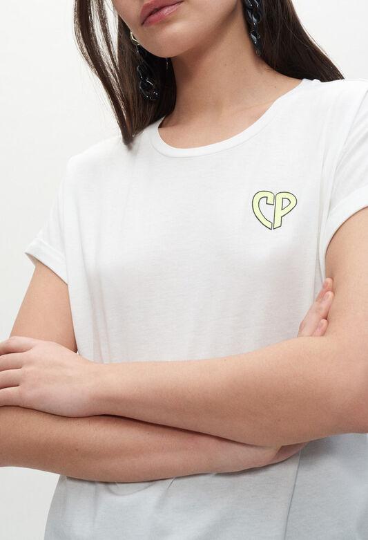 끌로디피에로 티셔츠 Claudie Pierlot T-shirt blanc A manches courtes,ECRU