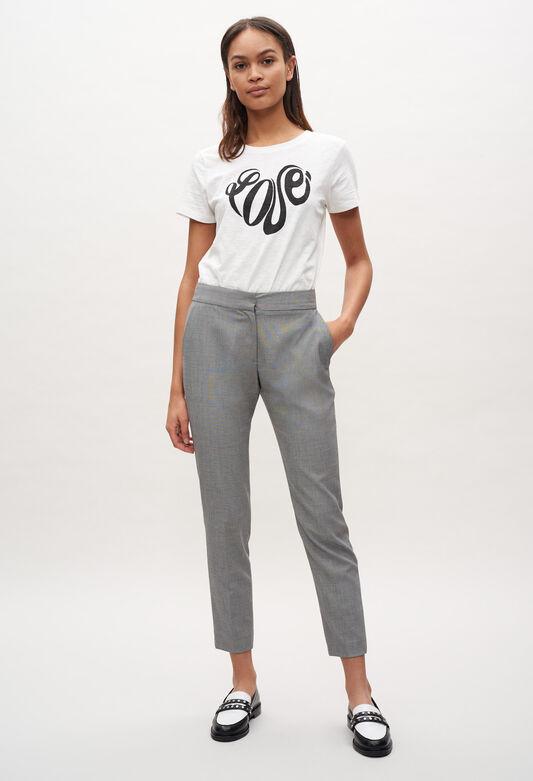 끌로디피에로 Claudie Pierlot Pantalon tailleur taille haute,GRIS CHINE CLAIR