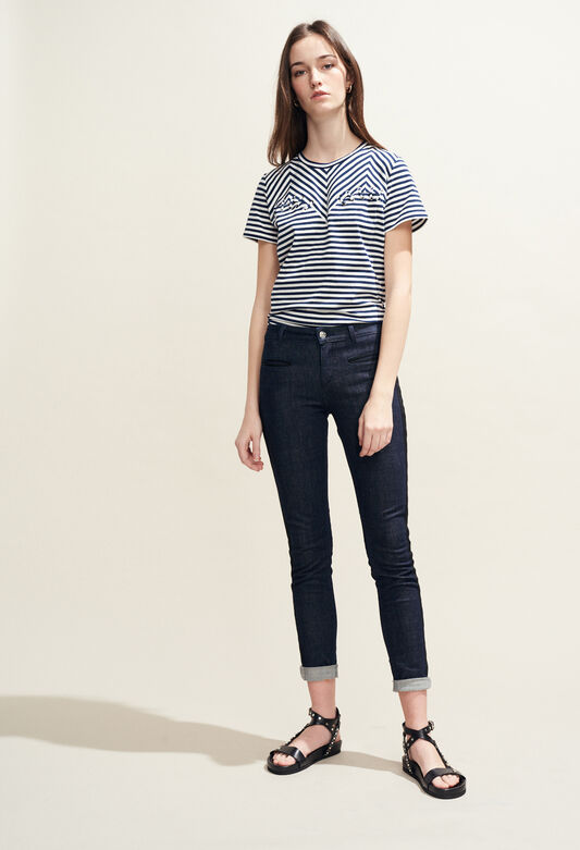 끌로디피에로 Claudie Pierlot PAOLINE - Jean brut details sportswear,JEAN