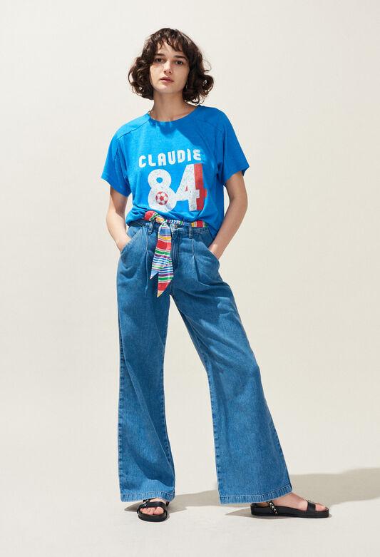 끌로디피에로 Claudie Pierlot TALLY - T-shirt serigraphie tricolore,D001