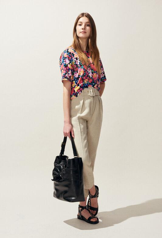 끌로디피에로 Claudie Pierlot TALITHA - T-shirt manches courtes imprime fleurs,MULTICO