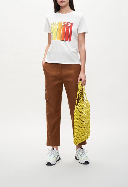 끌로디피에로 티셔츠 Claudie Pierlot T-shirt Sunset,ECRU