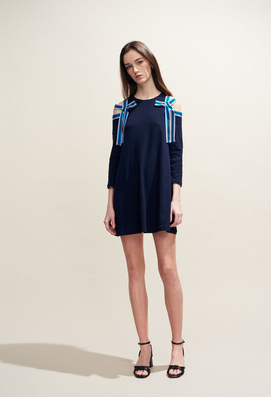 끌로디피에로 Claudie Pierlot TROOP - Robe baby-doll en jersey,MARINE