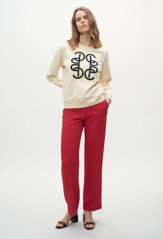 끌로디피에로 맨투맨 Claudie Pierlot Sweatshirt monogramm,VANILLE