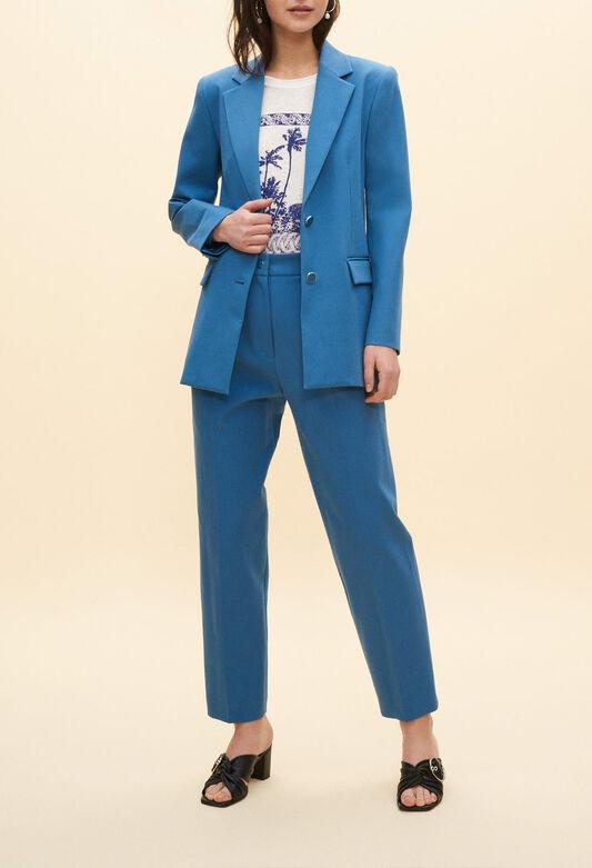 끌로디피에로 자켓 Claudie Pierlot Blazer bleu,TEMPETE