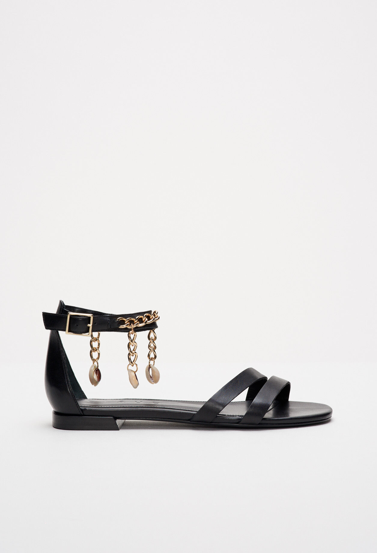 Sandales à chaîne de métal
