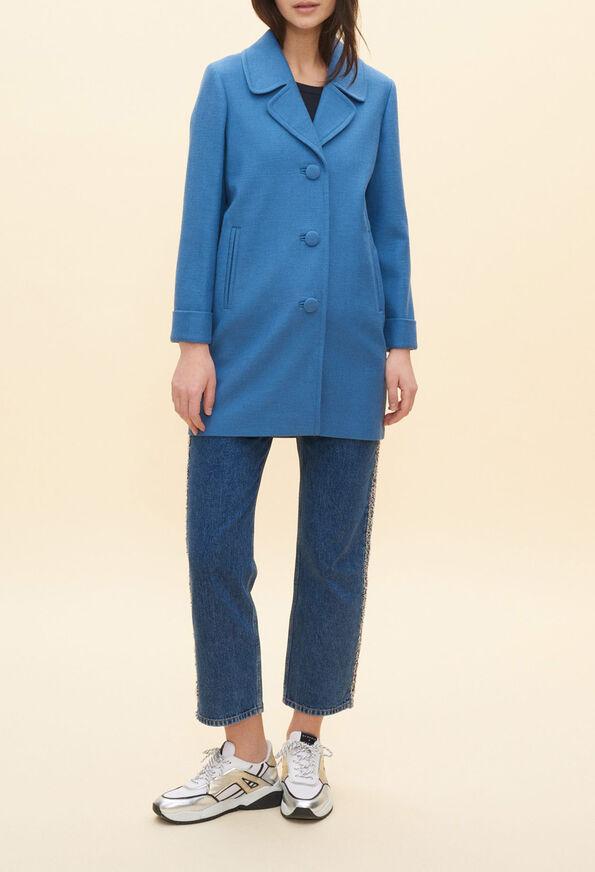 GLENNE20 : Manteaux et Blousons couleur TEMPETE