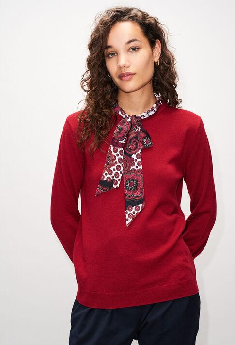 MERINAH19 : Maille & Sweatshirts couleur CERISE
