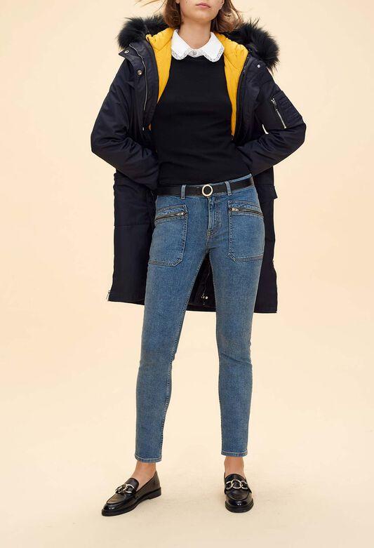 Jeans, pantalon cigarette femme   Claudie Pierlot bfe944e0b97