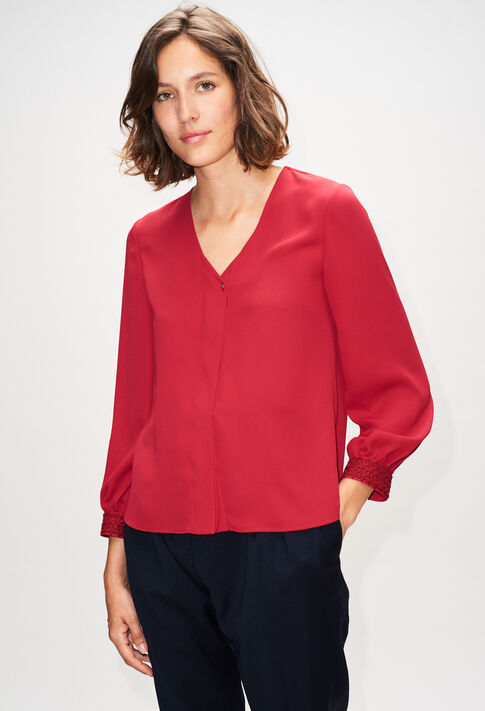BOCOBISH19 : Tops et Chemises couleur CERISE