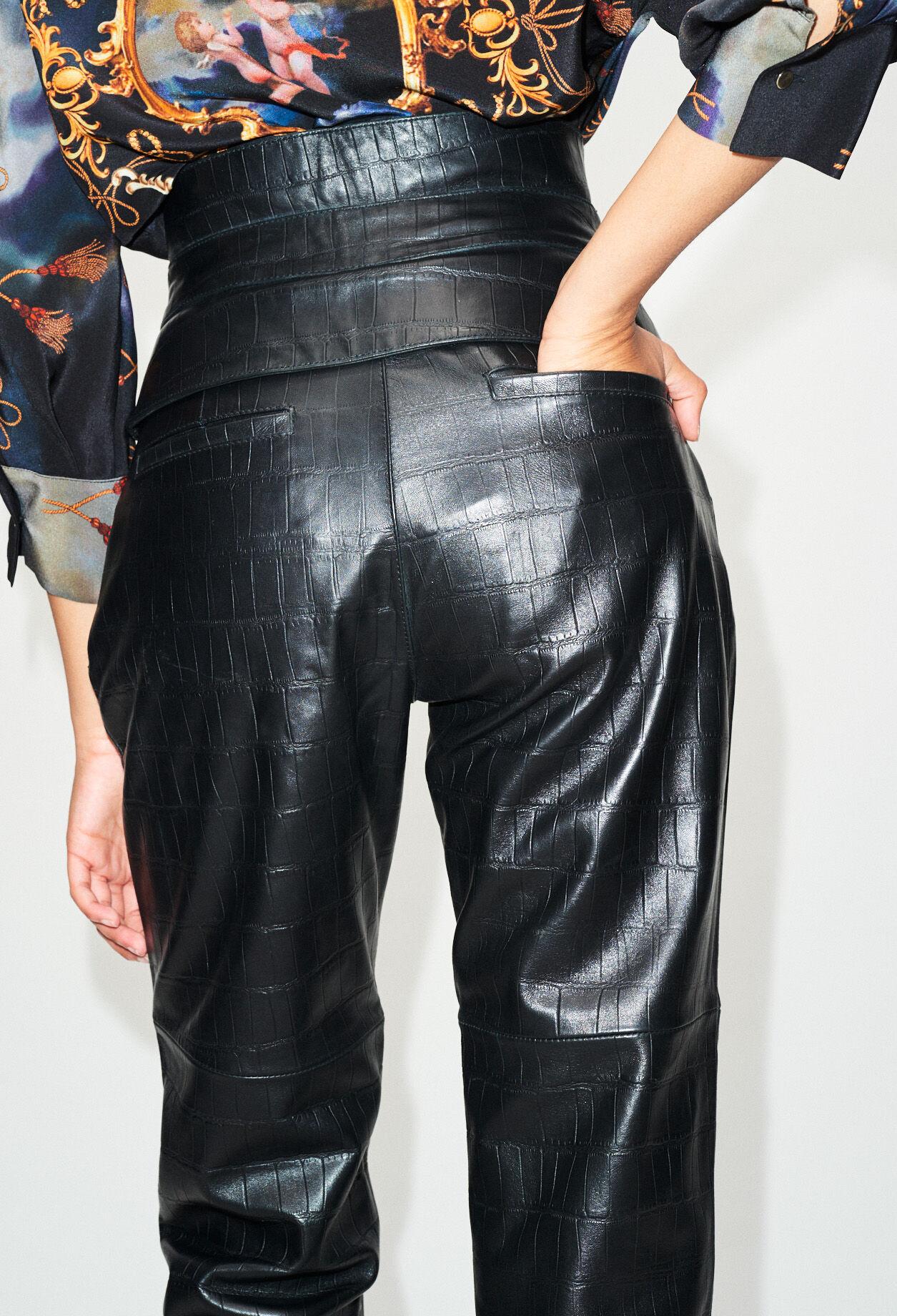 claudie pierlot pantalon en cuir