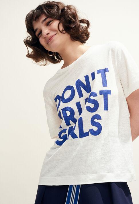 TEARS : T-Shirts couleur Ecru