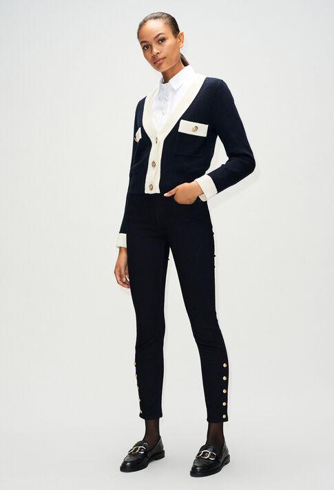 PAPAYEH19 : Pantalons et Jeans couleur MARINE