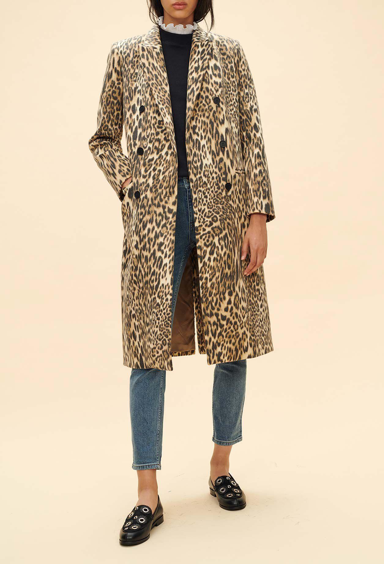 Manteau suedine femme marron