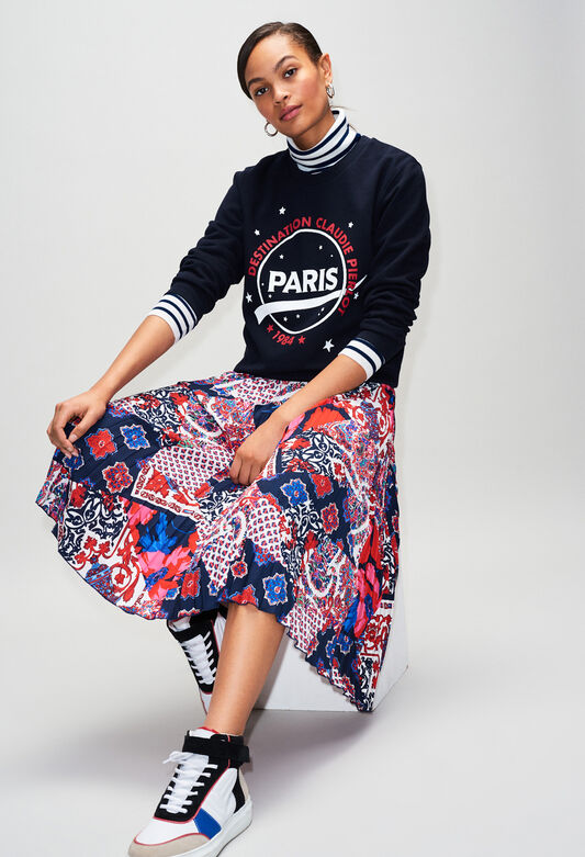 Mailles & sweatshirts femme : sweat à message | Claudie Pierlot