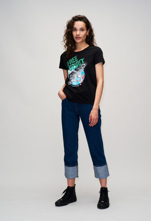 TESSIEH19 : T-Shirts couleur NOIR