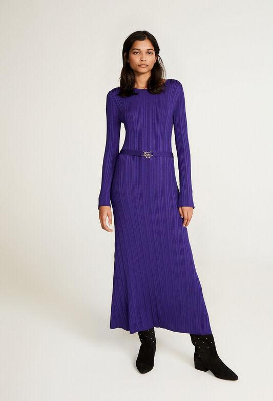 끌로디 피에로 원피스 Claudie Pierlot Robe longue violette,VIOLET