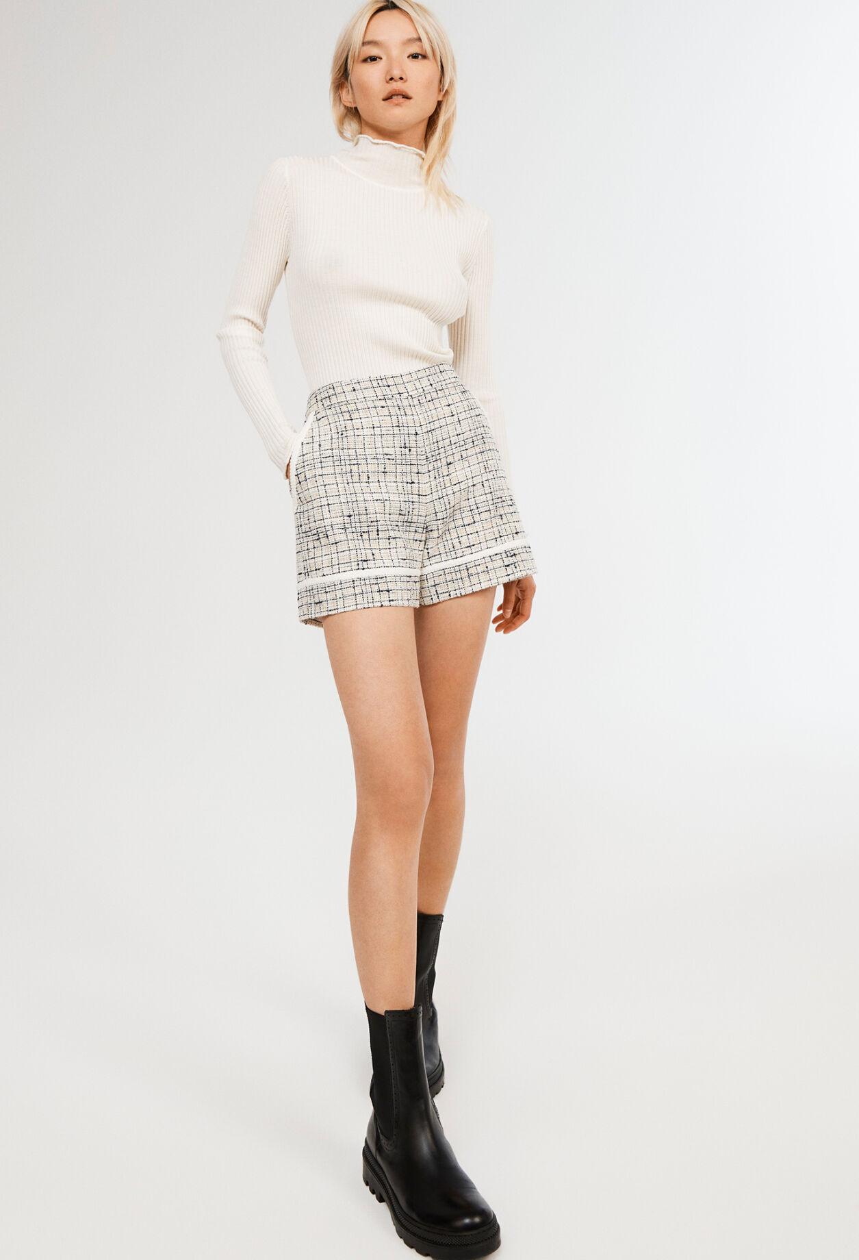 끌로디피에로 반바지 Claudie Pierlot Short taille haute,IVOIRE