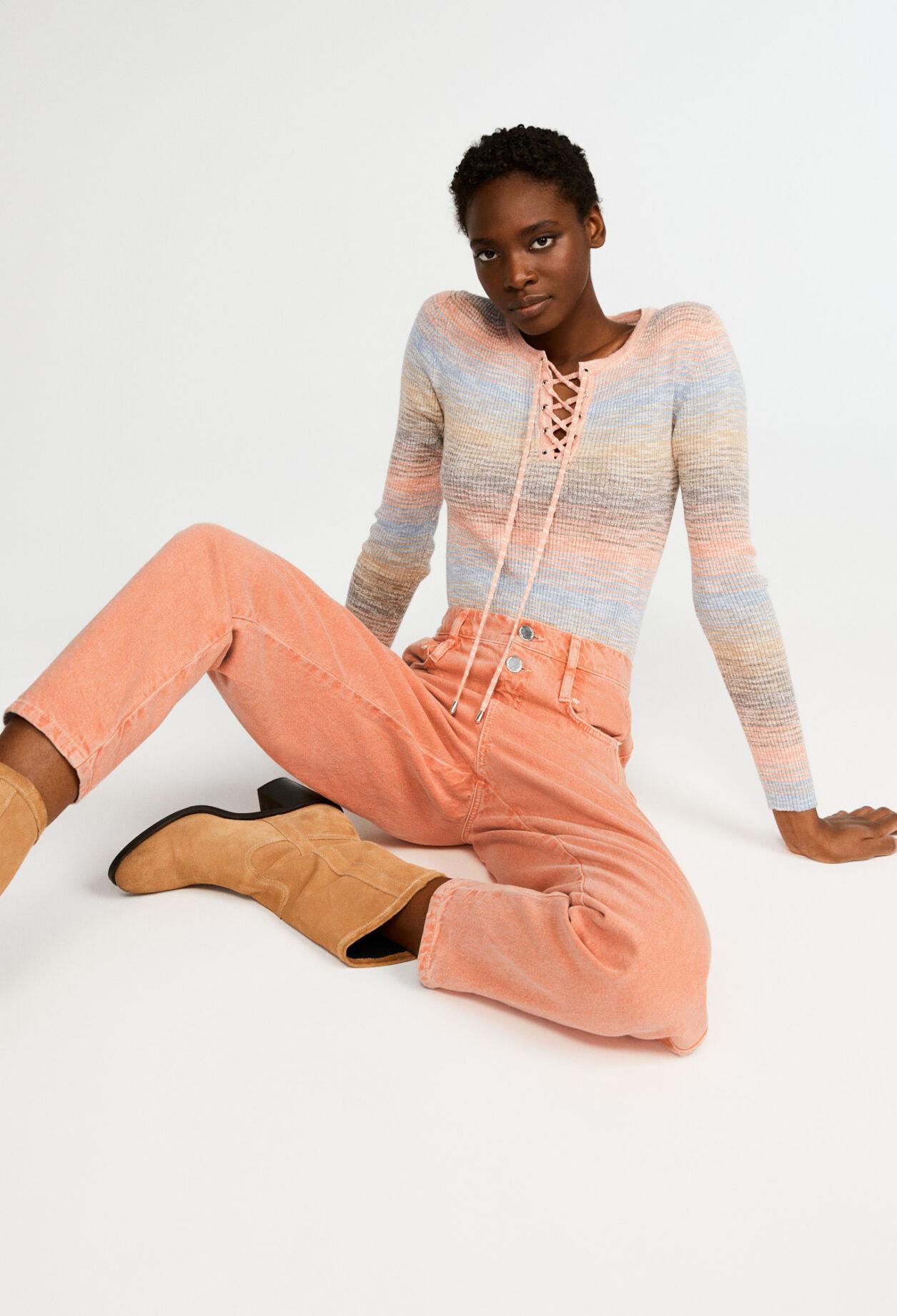 끌로디 피에로 데님 진 Claudie Pierlot Jean color en coton biologique,ORANGE