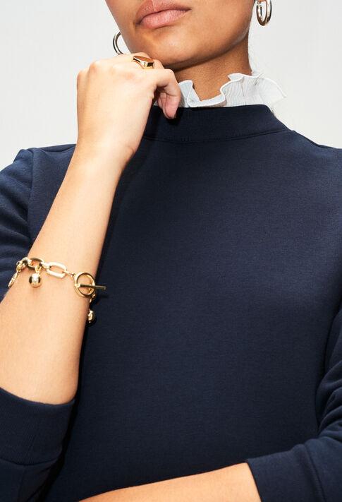 TOURNONH19 : Maille & Sweatshirts couleur MARINE