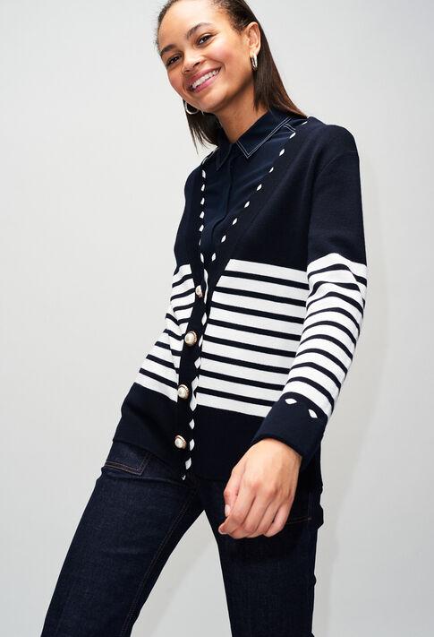 MINERVAH19 : Maille & Sweatshirts couleur MARINE