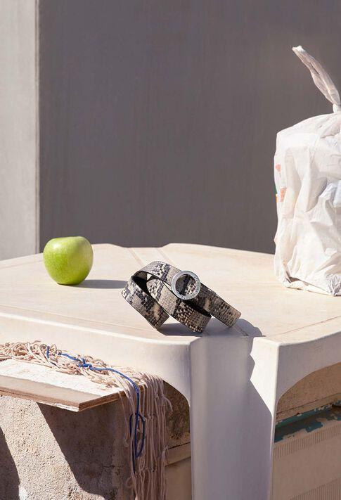 ALIGATO SNAKE : Ceintures couleur BEIGE
