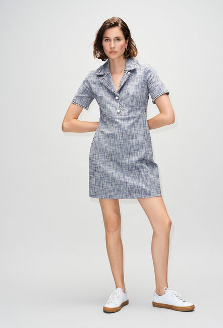 RINOH19 : Robes couleur CHAMBRAY FONCE - SHIRTING