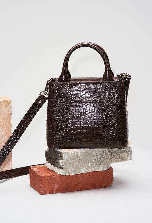 ANOUCKSMALLREPTILECROCOH19 : Sacs et Maroquinerie couleur CHOCOLAT