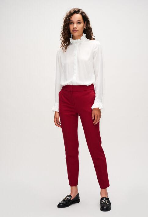 PHANPHANH19 : Pantalons et Jeans couleur CERISE
