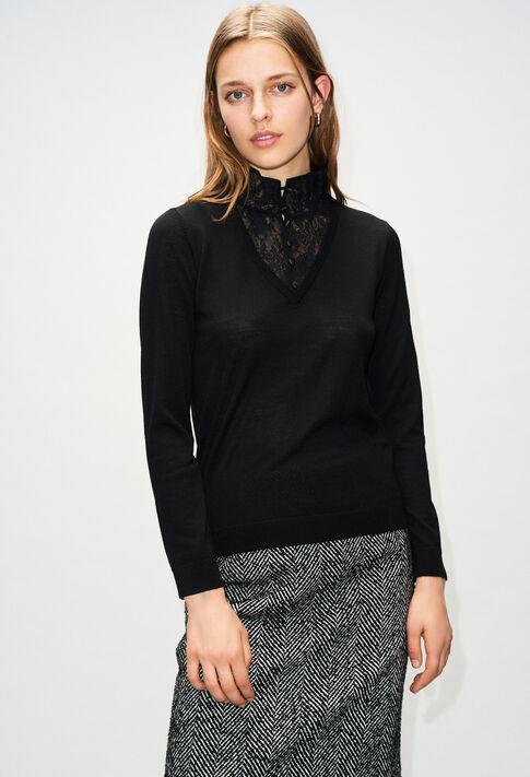 MACAOH19 : Maille & Sweatshirts couleur NOIR