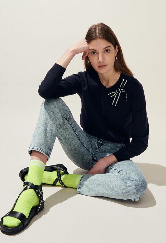 MIXITY BIS : Maille & Sweatshirts couleur MARINE