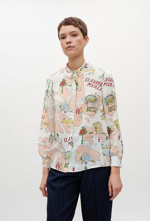 CHIMEREE20 : Tops et Chemises couleur PRINT CLAIR