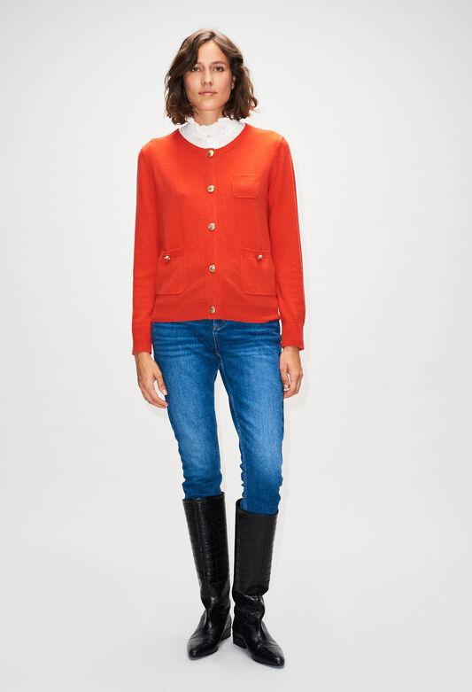 MILLYH19 : Maille & Sweatshirts couleur ORANGE