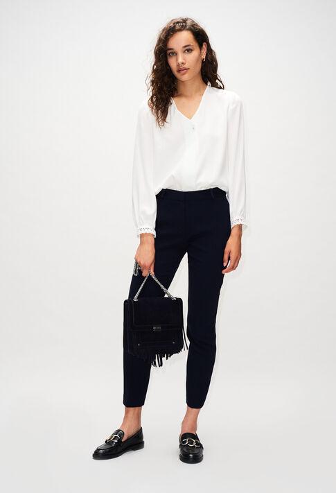 POULINH19 : Pantalons et Jeans couleur MARINE