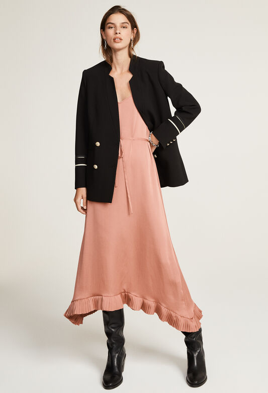 끌로디피에로 원피스 Claudie Pierlot Robe A fines bretelles,TERRACOTTA
