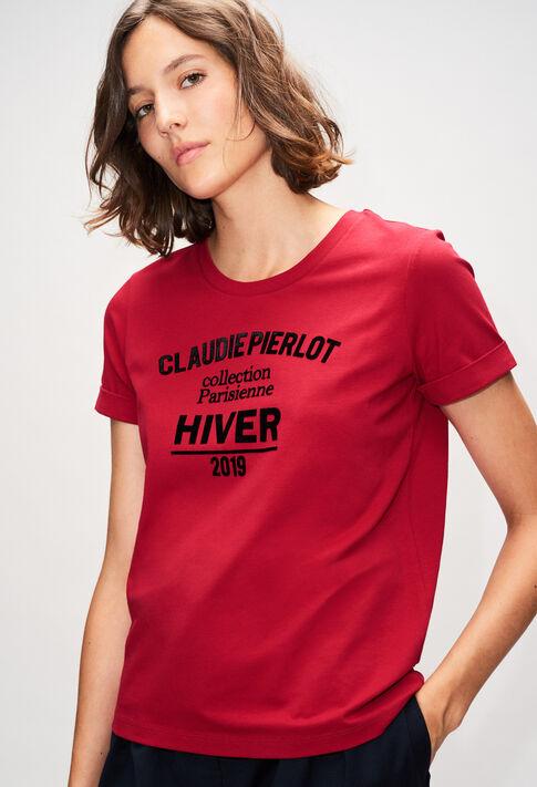 TRISTANH19 : T-Shirts couleur CERISE