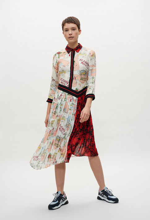 RIVAGEE20 : Robes couleur PRINT