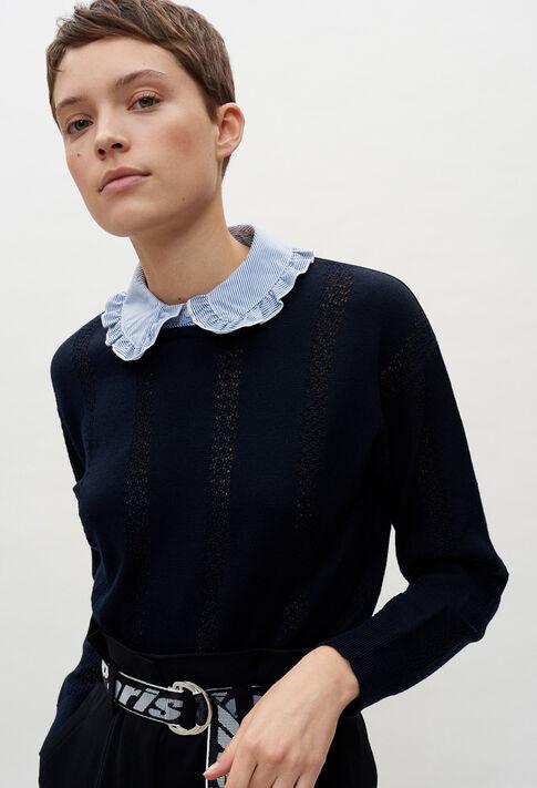MIGNONE20 : Maille & Sweatshirts couleur MARINE