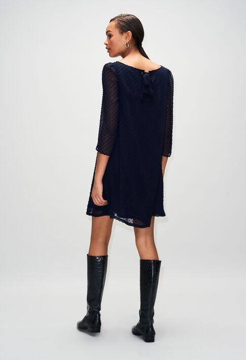 RIFIFIPLUMETISH19 : Robes couleur MARINE