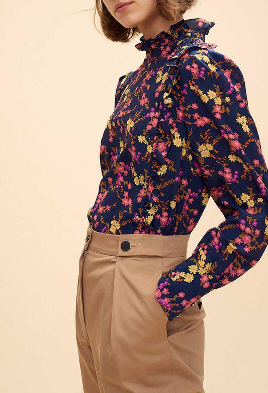 Tops   Chemises femme   col claudine, imprimé   Claudie Pierlot 3c628d48b104