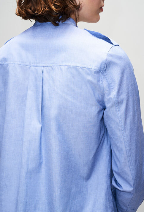 CINOH19 : Tops et Chemises couleur CHAMBRAY CLAIR - SHIRTING