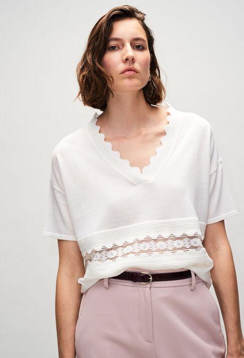 MELINEH19 : Maille & Sweatshirts couleur ECRU